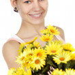 Girl with flowers — Stock Photo #9429155
