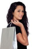 Alışveriş esmer kadın — Stok fotoğraf
