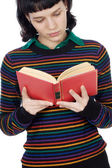 Attractive girl reading — Stock Photo