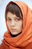 Attractive woman with veil — Stok fotoğraf