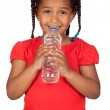 African little girl with water bottle — Stock Photo #9430649