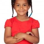 Adorable african little girl — Stock Photo