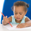 Stock Photo: Adorable baby student