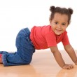 Adorable african baby crawl — Stock Photo #9430747
