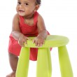 Chubby african baby — Stock Photo