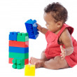 Baby with blocks — Stock Photo #9430900