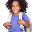 Student little girl with beautiful hairstyle — Stock Photo #9431033
