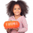 Adorable african little girl with beautiful hairstyle with a pum — Stock Photo #9431219
