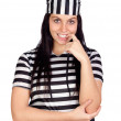 Beautiful prisoner — Stock Photo