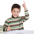 Child with notebook — Stock Photo