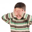 Funny child covering his eyes — Stock Photo
