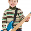 Adorable child playing electric guitar — Stock Photo #9431874