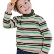 Adorable future engineer isolated — Stock Photo #9431894