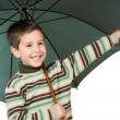 Adorable boy with open umbrellas — Stock Photo #9431912