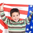 Adorable boy with american flag — Stock Photo #9431920