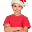 Adorable child with Santa Hat — Stock Photo