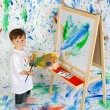 Royalty-Free Stock Photo: Boy playing with painting