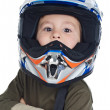 Stock Photo: Adorable boy with a helmet in the head