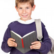 Student little child with blond hair — Stock Photo #9432026