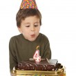Adorable kid celebrating his birthday — Stock Photo #9432033
