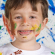 Adorable and dirty child — Stock Photo