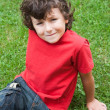 Happy child sitting on the grass — Stock Photo #9432251