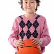 Handsome boy with basket ball — Stock Photo #9432295