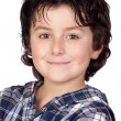 Stock Photo: Smiling child with plaid t-shirt