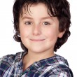 Smiling child with plaid t-shirt — Stock Photo #9432297