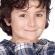 Smiling child with plaid t-shirt — Stock Photo