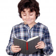 Student child with a book — Foto de Stock