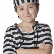 Stock Photo: Smiled child with prisoner costume