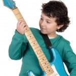 Boy whit electric guitar — Stock Photo