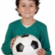 Adorable boy with a ball — Stock Photo #9432391