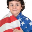 Adorable boy with american flag — Stock Photo #9432394
