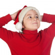 Adorable boy with santa hat — Stock fotografie