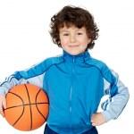 Adorable child playing the basketball — Stock Photo #9432616