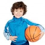 Adorable child playing the basketball — Stock Photo #9432621