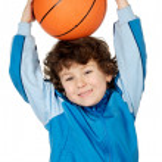 Adorable child playing the basketball — Stock Photo #9432622