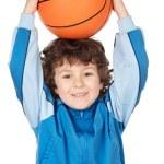 Adorable child playing the basketball — Stock Photo #9432623