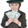 Adorable future businessman — Stock Photo