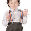 Boy with suspenders — Stock Photo #9432769