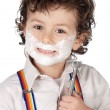 Adorable child shaving — Stock Photo #9432772