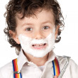Adorable child shaving — Stock Photo #9432773