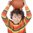 Stock Photo: Boy with the full head of savings