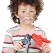 Boy victim with electricity — Stock Photo