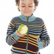 Foto Stock: Child eating apple