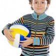 Boy with a ball of football — Stock Photo