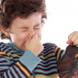 Boy with stinky — Stock Photo