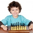 Boy playing the chess — Stock Photo #9432922